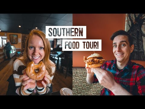 North Carolina FOOD TOUR! Delicious Southern Dishes + Exploring Cutest Town! (Boone, NC)