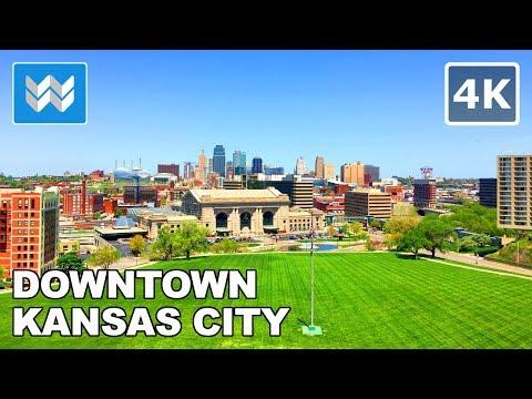 Walking around Downtown Kansas City, Missouri USA | Travel Guide 【4K】
