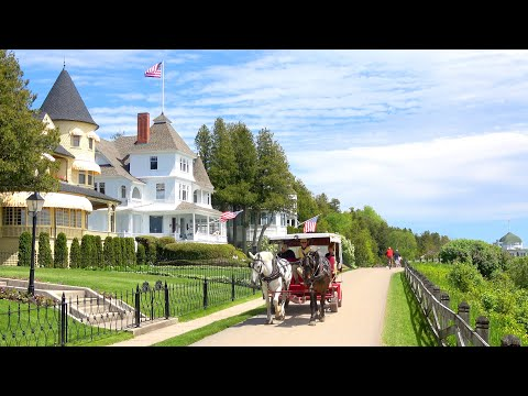 Charming Mackinac Island Michigan: Frozen In History 4K Video