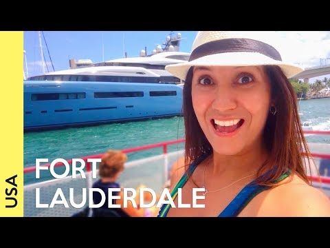 Fort Lauderdale, Florida | Beach and Boat tour (2018 vlog)