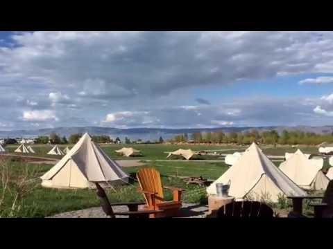 Glamping in Bear Lake UTAH - Conestoga Ranch review and tour