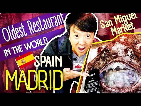 Tapas Tour & OLDEST RESTAURANT in The WORLD in Madrid Spain