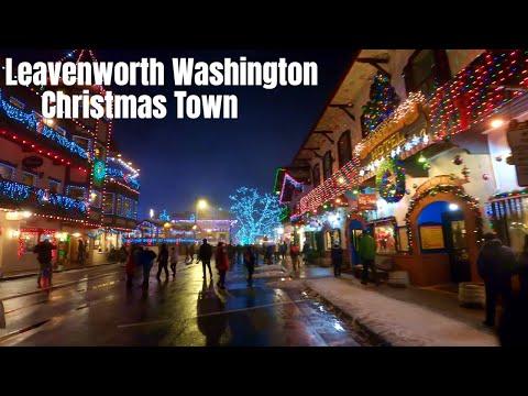 Leavenworth, Washington - The Ultimate Winter Wonderland 4K Walking Tour 2019