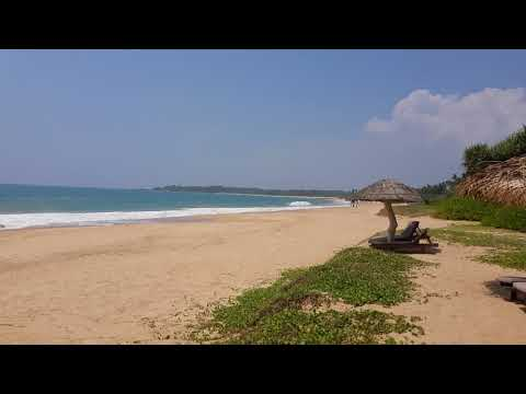 Kahandamodara beach in south Sri Lanka in March 2018 near Tangalle 4K