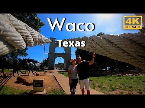 Waco Texas TX 4k Downtown Travel Tour