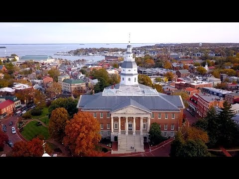 Annapolis in Autumn by Drone