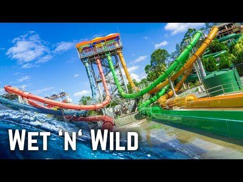 Water Slides at Wet 'n' Wild Gold Coast! (GoPro POV)