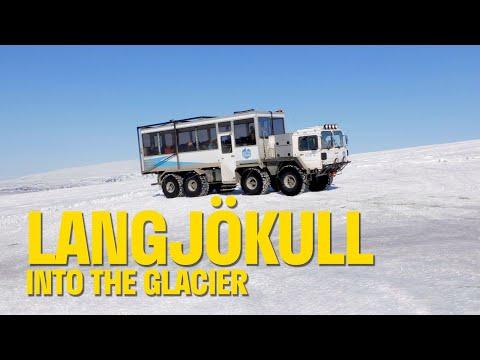 Ice caves of Langjökull Glacier in Iceland (2019)