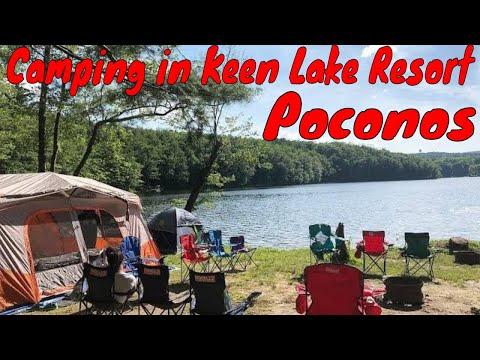 Camping 2018 at Keen Lake, Pocono Mountains Pennsylvania