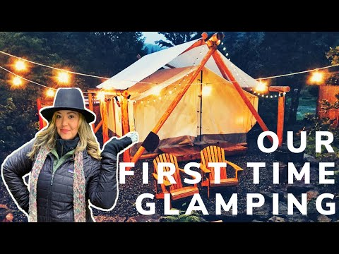 Luxury Glamping in a Tent in Oregon | Umpqua Hot Springs & Crater Lake National Park | Tent Tour 🏕