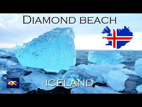 Diamond beach Iceland 4K