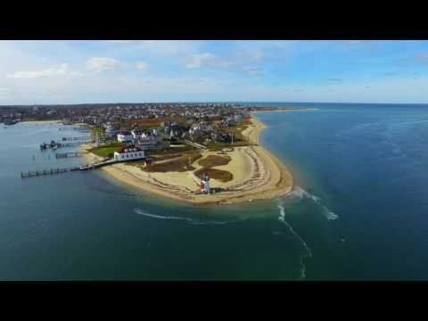 Nantucket Island - via drone 4K December 2016