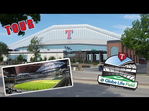 Globe Life Field Tour of New Texas Rangers Ballpark