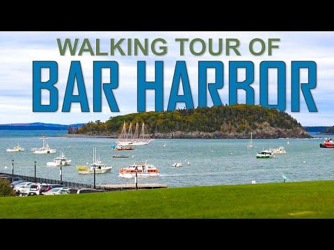 BAR HARBOR WALKING TOUR in 4K (Acadia, Maine)