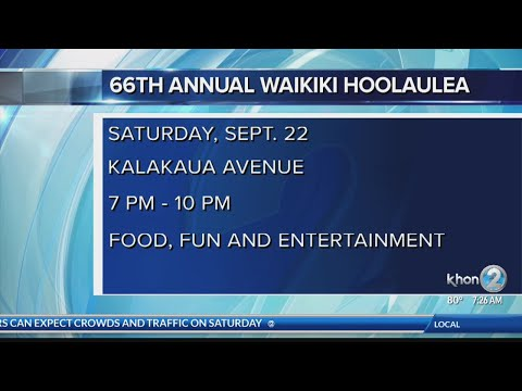 It's that time of year, Aloha Festivals Waikiki Hoolaulea