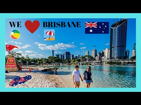 BRISBANE: Stunning Streets Beach 🏖️ and South Bank Parklands, scenic views! (Australia)