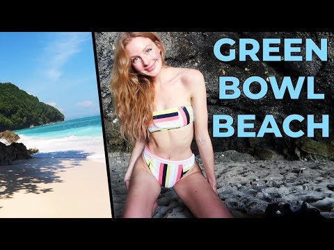 SECRET BEACH! Green Bowl Beach, Bali