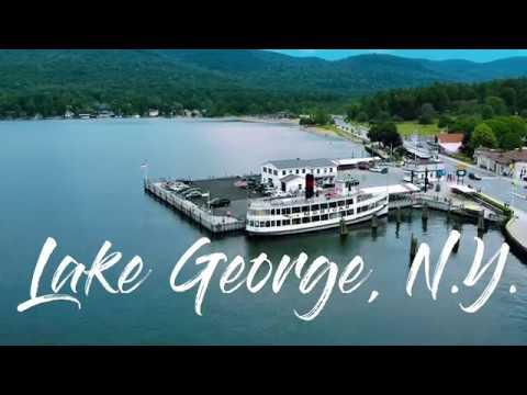 LAKE GEORGE, NEW YORK #LAKEGEORGE #GETAWAY #AERIALFOOTAGE