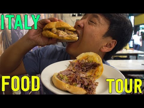 LEGENDARY PASTA & SANDWICHES! Food Tour of Florence Italy