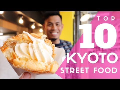 Japanese Street Food Tour Top 10 in Kyoto Japan | Nishiki Market Food Guide