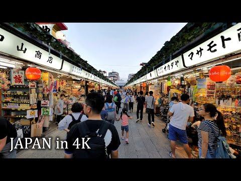 【4K】Evening walk around Asakusa to Skytree, Tokyo