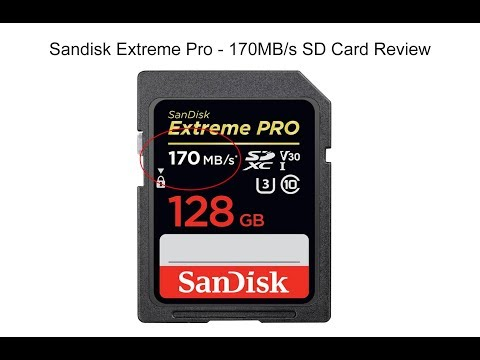 Sandisk 170MB/s Extreme Pro SD Card Review