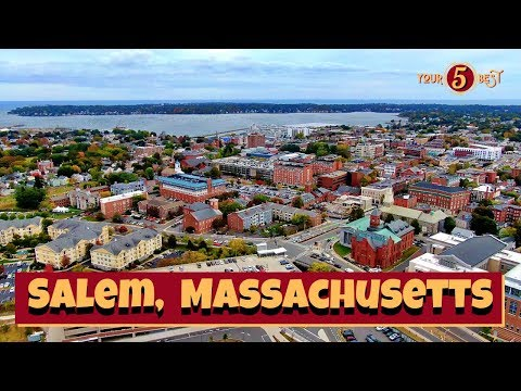 SALEM, Massachusetts Tour - BEST things to see + Do - 4k Drone Video