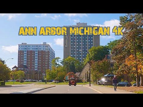 Michigan's Most Prestigious City: Ann Arbor, Michigan 4K.