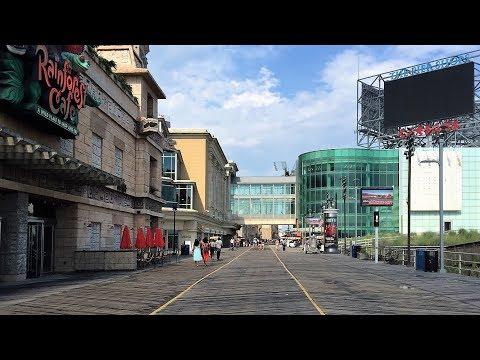 ATLANTIC CITY BOARDWALK WALKING TOUR - ATLANTIC CITY NJ - New Jersey Travel Guide 4K