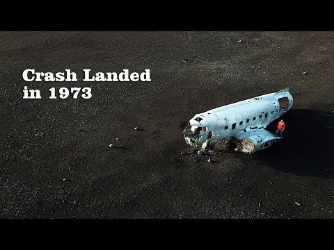 Plane Wreck on an Iceland Beach