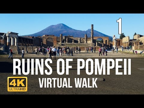 Pompeii Walking Tour in 4K Part 1