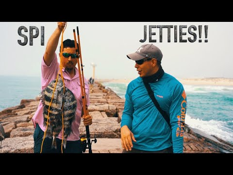 South Padre Island **JETTIES FISHING** for powerful fish!!