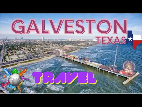 Galveston The beach of Texas USA. Best things to do
