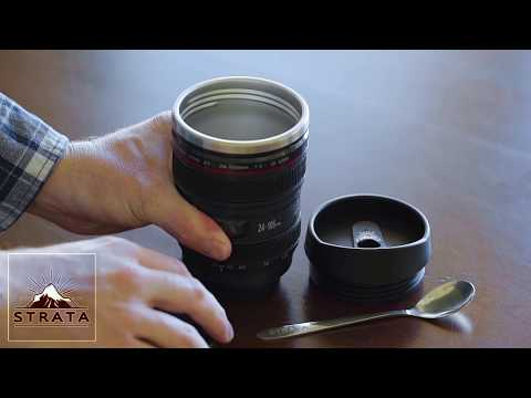 Gift Ideas for Photographers! Replica Canon Camera Lens Coffee Mug!