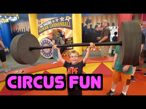 Circus Family Fun | Indianapolis Children's Museum Exhibit | Human Cannonball Guide for Parents
