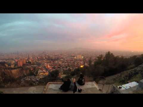 Time Laps : Barcelona sunset (view from the Bunkers Del Carmel)