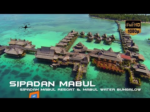 Amazing Mabul Water Bungalow Resort Tour + Aerial footage
