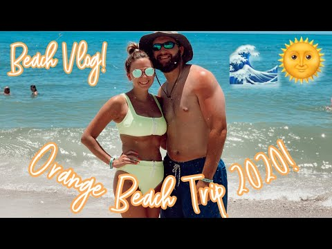 ORANGE BEACH VLOG 2020  VACATION DURING TROPICAL STORM??⚡️🌨  TRAVEL WITH ME