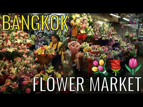 BANGKOK FLOWER MARKET - Pak Klong Talad