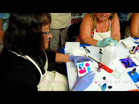 Learn how to Paint on Ceramic with Alcohol Inks, DIY Ceramic Coasters