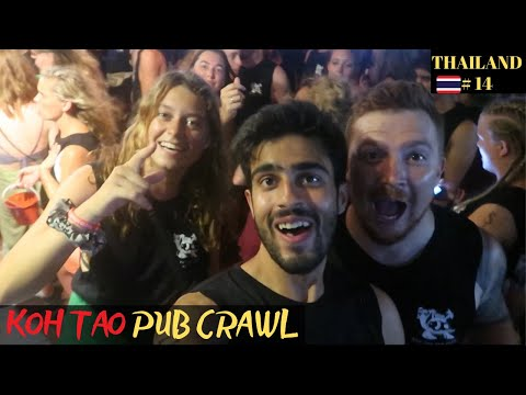 The Best NIGHTLIFE & PARTY in Thailand: Koh Tao Pub Crawl 2019 🇹🇭