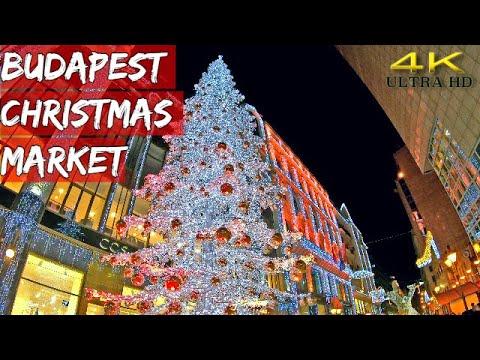 Budapest Christmas Market Hungary 4K Ultra HD