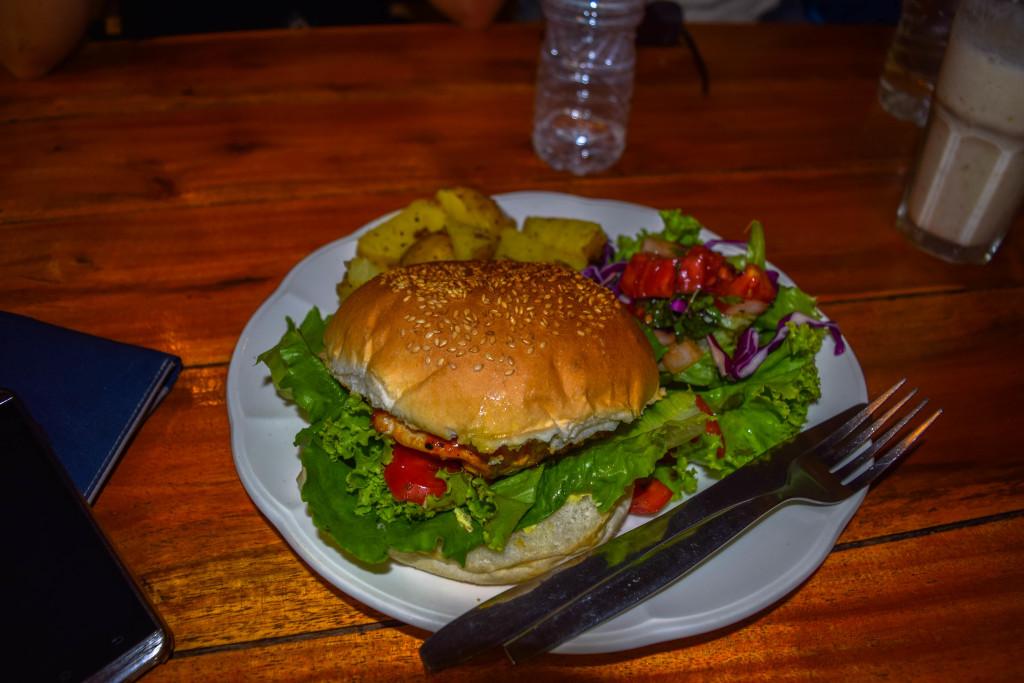 BBQ Chicken Burger at OM Cafe!