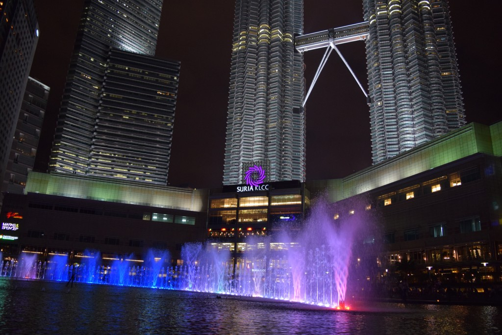 Water & Lights show at KLCC