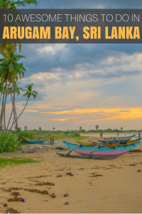 Best Things To do in Arugam Bay