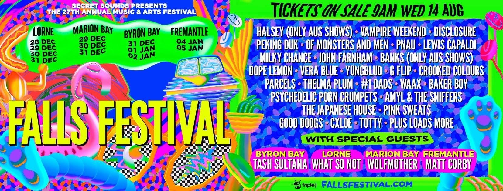 Falls Festival - New Years Eve Festivals Australia 2019