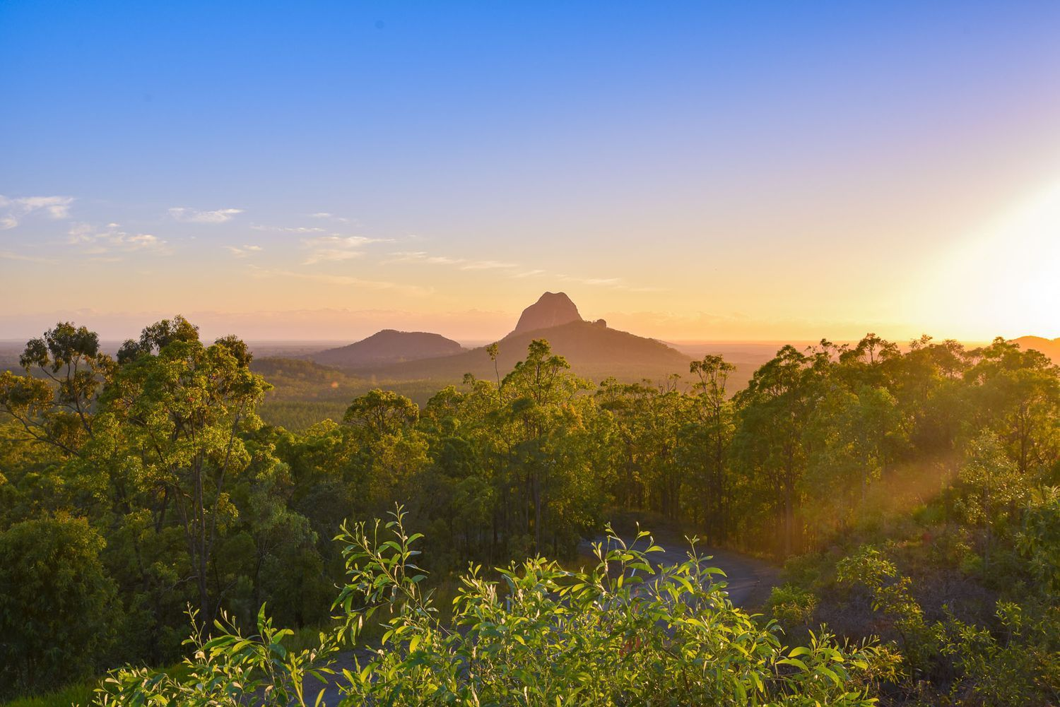 Glasshouse Mountains Sunrise - Australia Travel Tips