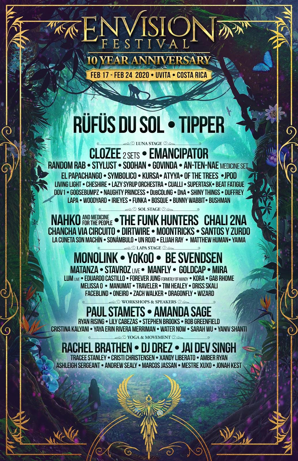 Envision Festival 2020 Line-Up