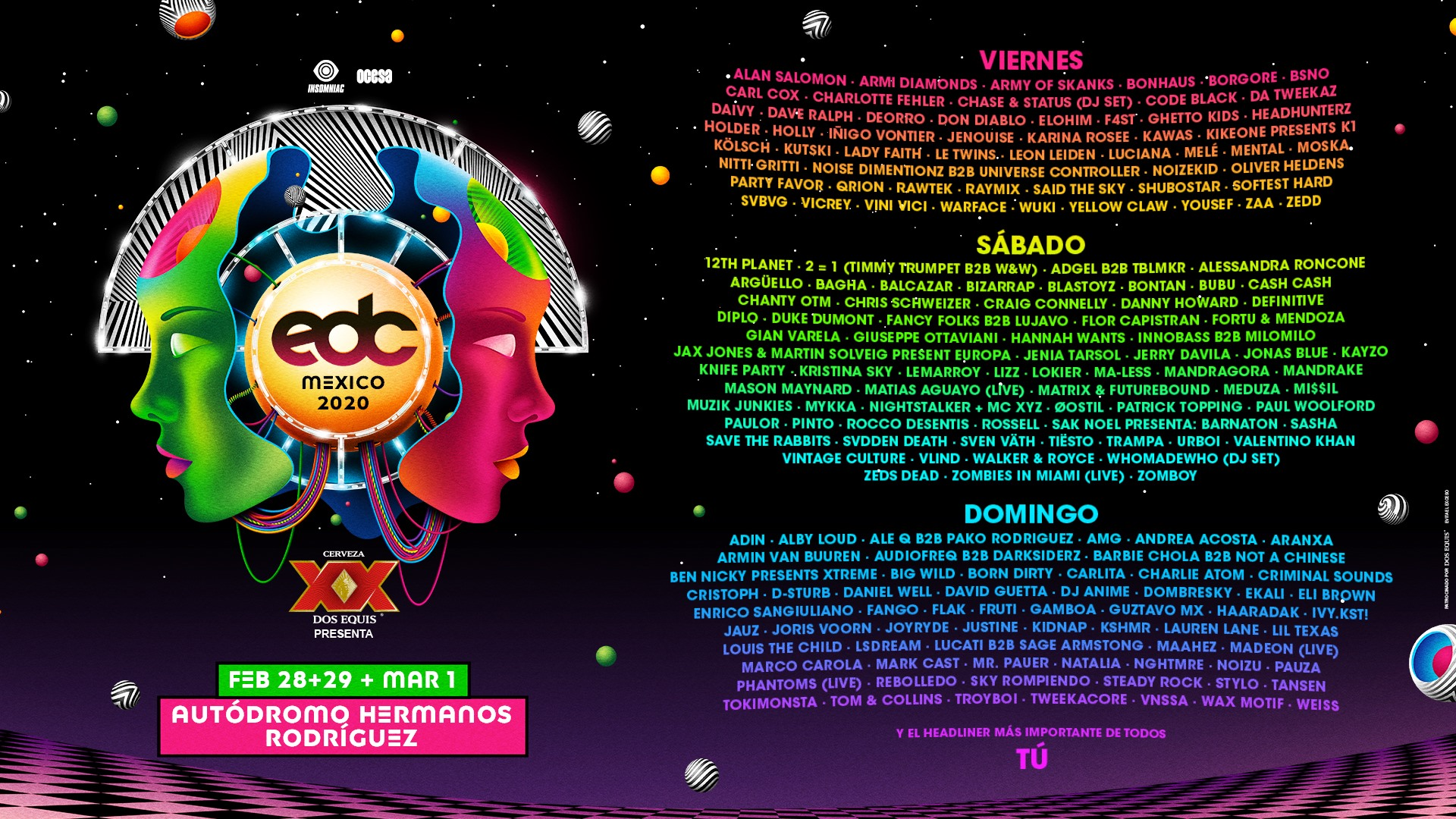 EDC Mexico - BEst EDM Festivals in Mexico 2020