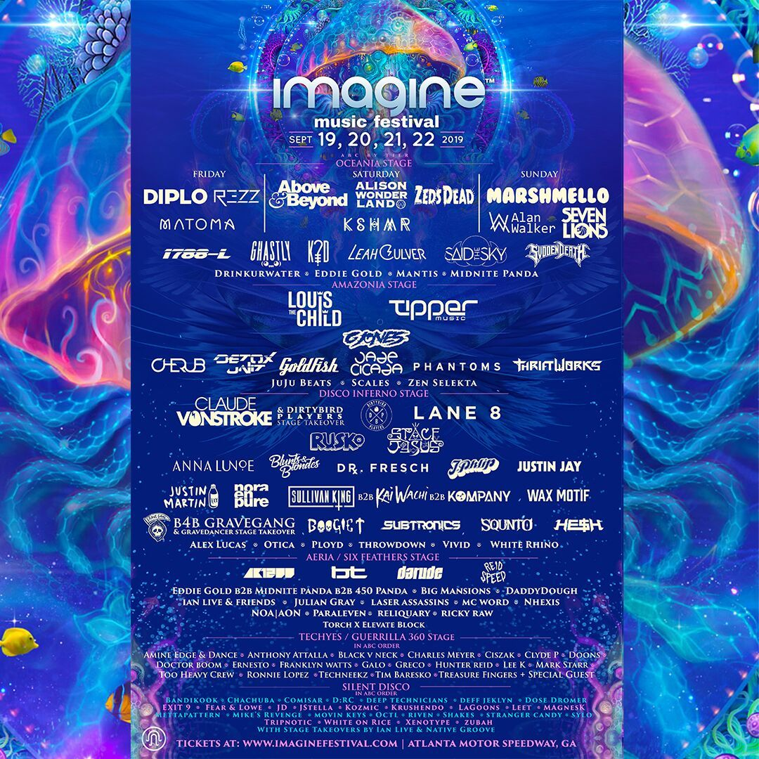 Imagine Festival Atlanta 2019 Line Up